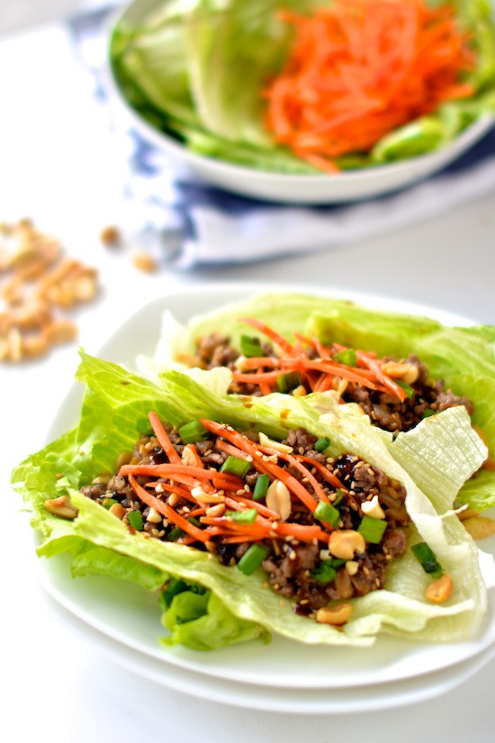 Healthy Japanese Recipes  Healthy Asian Lettuce Wraps