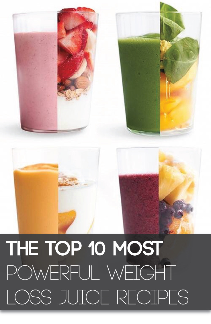 Healthy Juice Recipes For Weight Loss  The Top 10 Most Powerful Weight Loss Juice Recipes