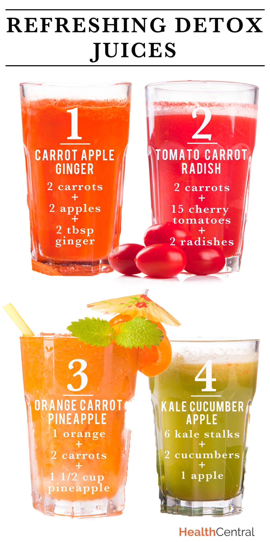 Healthy Juice Recipes  Refreshing Detox Juice Recipes INFOGRAPHIC
