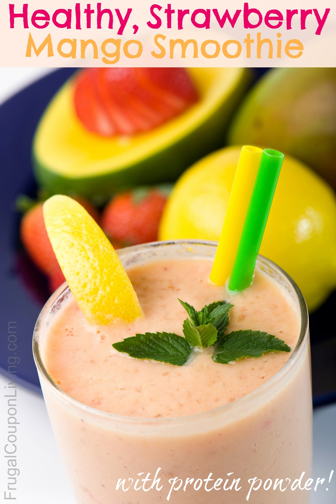 Healthy Juice Smoothies  Healthy Strawberry Mango Smoothie Recipe with Protein Powder
