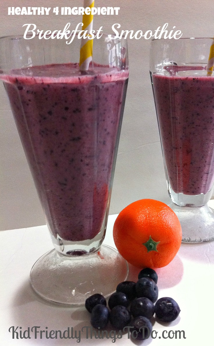 Healthy Juice Smoothies  Healthy Four Ingre nt Blueberries and Orange Juice