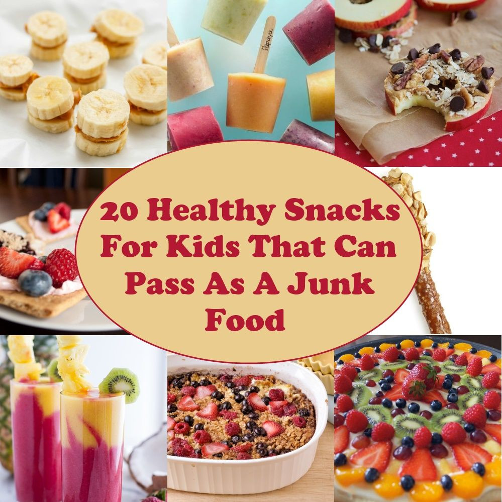 Healthy Junk Food Snacks  20 Healthy Snacks For Kids That Can Pass As A Junk Food