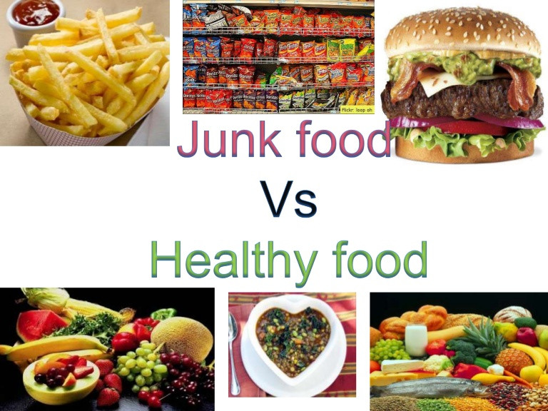 Healthy Junk Food Snacks  Junk Food V S Healthy Food