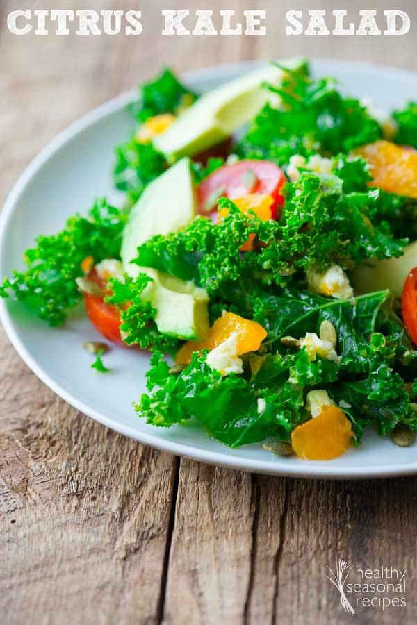 Healthy Kale Salad Recipes  citrus kale salad Healthy Seasonal Recipes