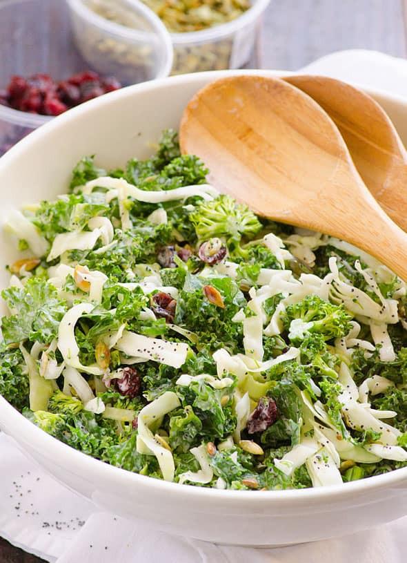 Healthy Kale Salad Recipes  Sweet Kale Salad Recipe iFOODreal Healthy Family Recipes
