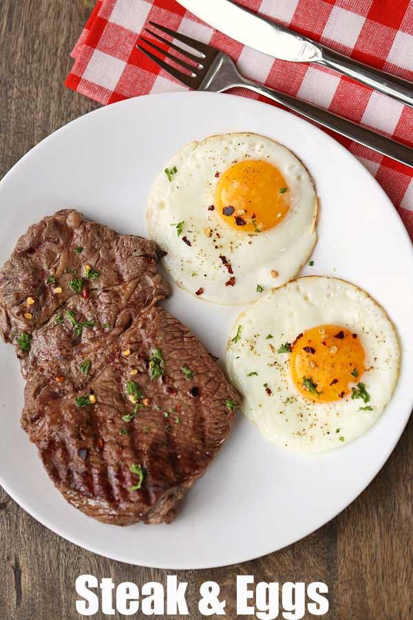 Healthy Keto Breakfast  Steak and Eggs Breakfast Recipe Healthy and Keto