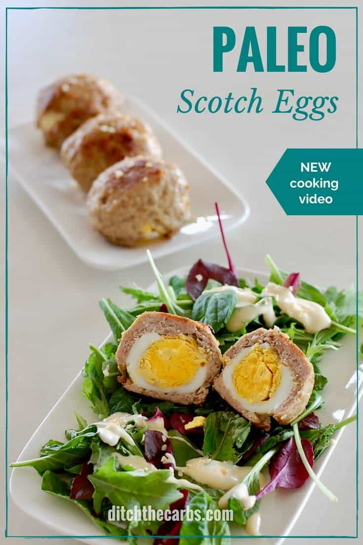 Healthy Keto Breakfast  Keto Paleo Scotch Eggs watch the quick cooking video