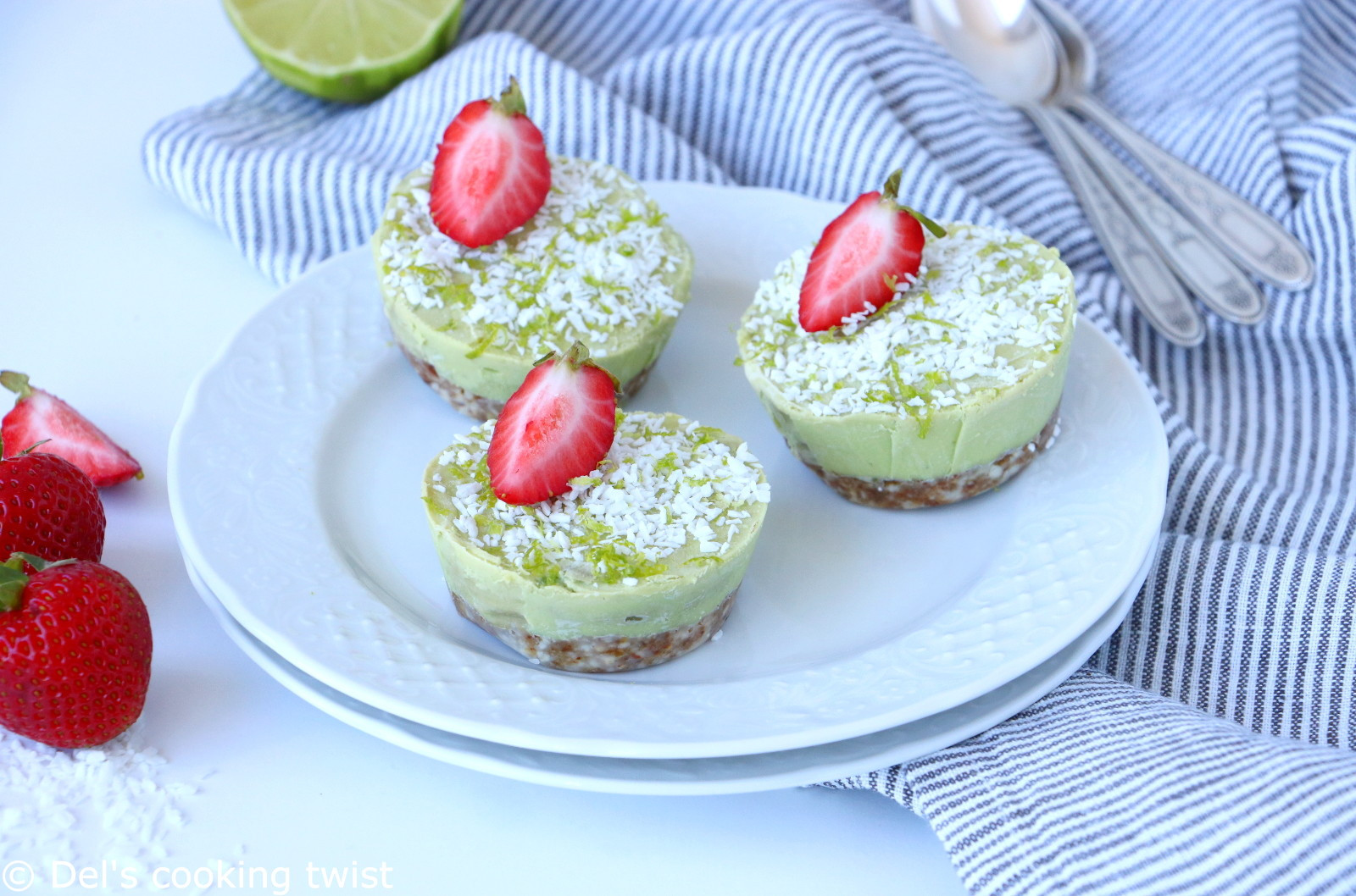 "Healthy Key Lime Pie  Mini key lime pies ""healthy"" — Del s cooking twist"