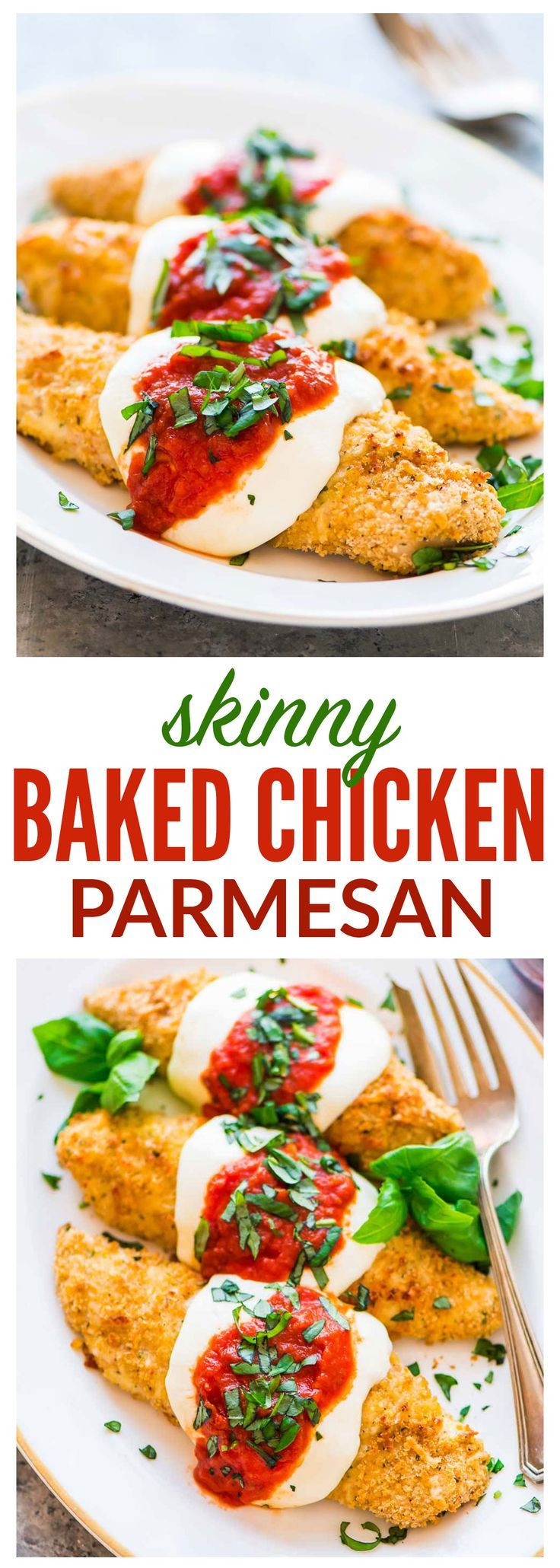 Healthy Kid Friendly Chicken Recipes  Healthy Baked Chicken Parmesan Crispy juicy and even