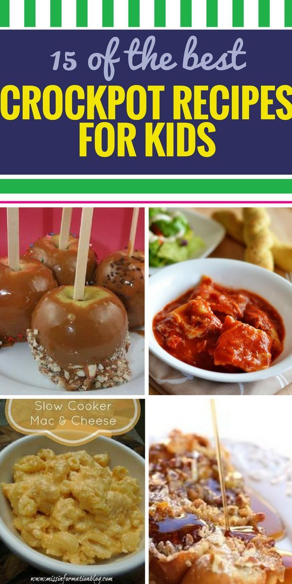 Healthy Kid Friendly Crock Pot Recipes  100 Crockpot recipes for kids on Pinterest