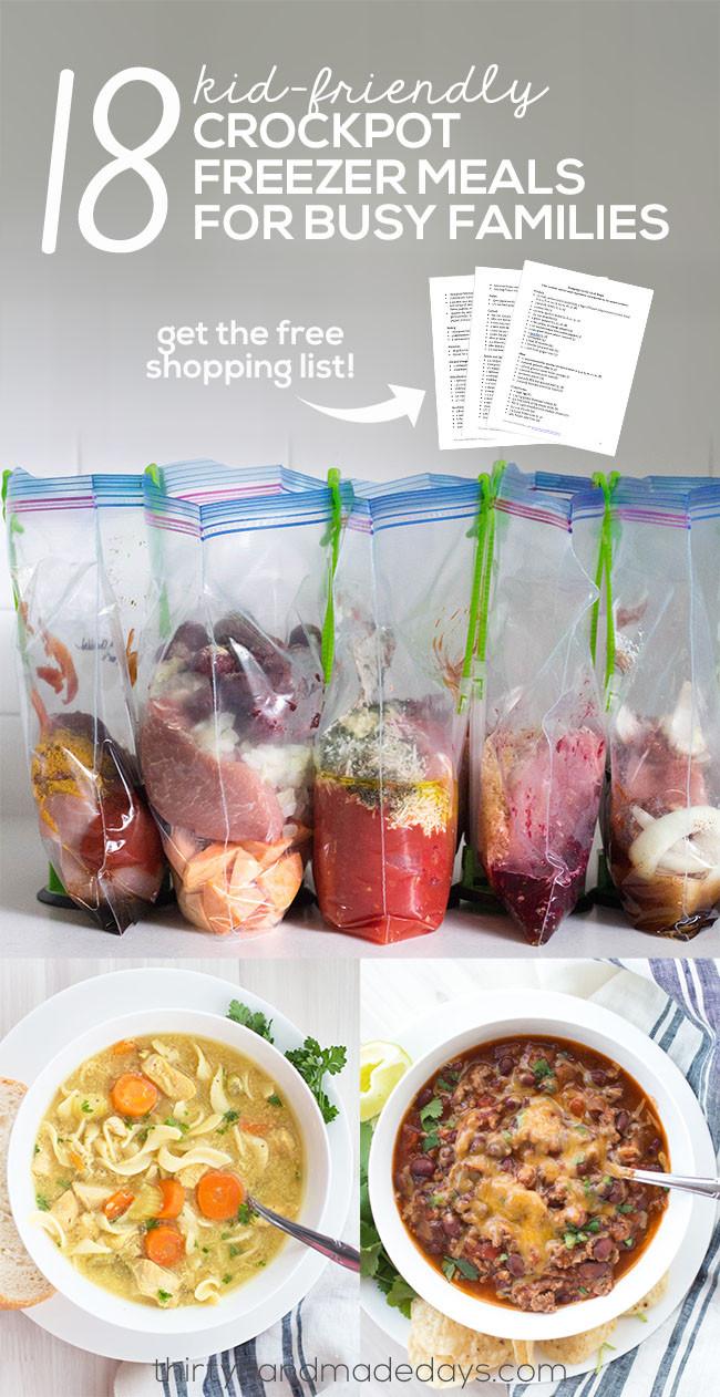 Healthy Kid Friendly Crock Pot Recipes  Kid Friendly Crockpot Freezer Meals for Busy Families