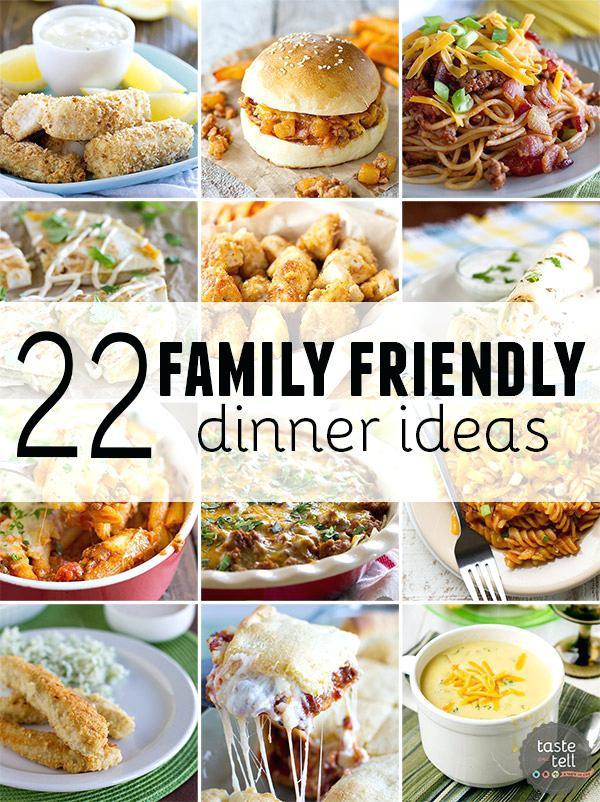 Healthy Kid Friendly Dinner Recipes  Dinner Ideas For Dinner Family Friendly Dinner Ideas Meals