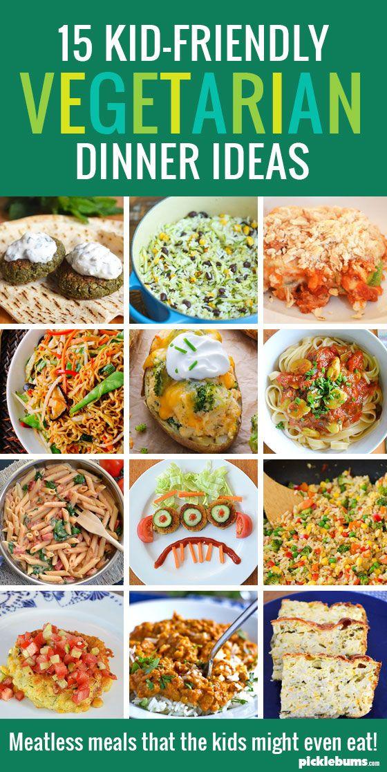 Healthy Kid Friendly Dinner Recipes  15 Kid Friendly Ve arian Dinners