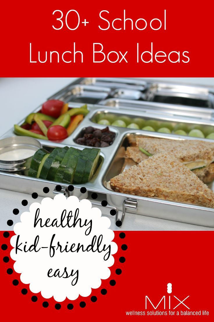 Healthy Kid Friendly Lunches  How to Pack a Healthy School Lunch 30 Kid Friendly Ideas