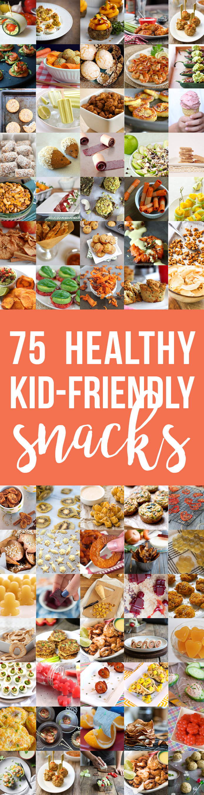 Healthy Kid Friendly Snacks  75 Healthy Kid Friendly Snacks