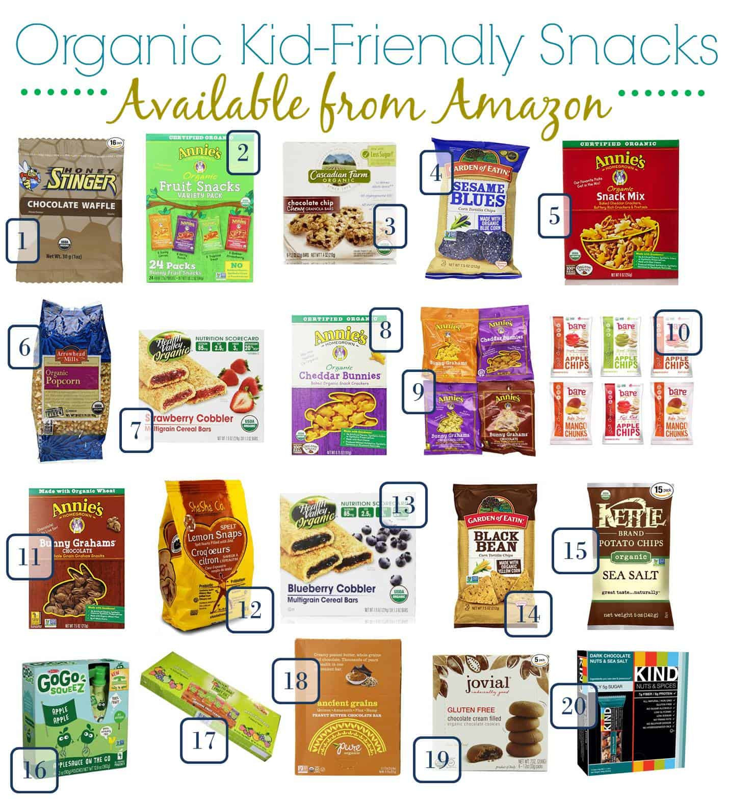 Healthy Kid Snacks To Buy  20 Perfect Organic Kid Friendly Snacks for Back to School