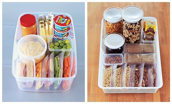 """Healthy Kid Snacks To Buy  Make healthy snack stations for the kids """"Go grab a snack"""