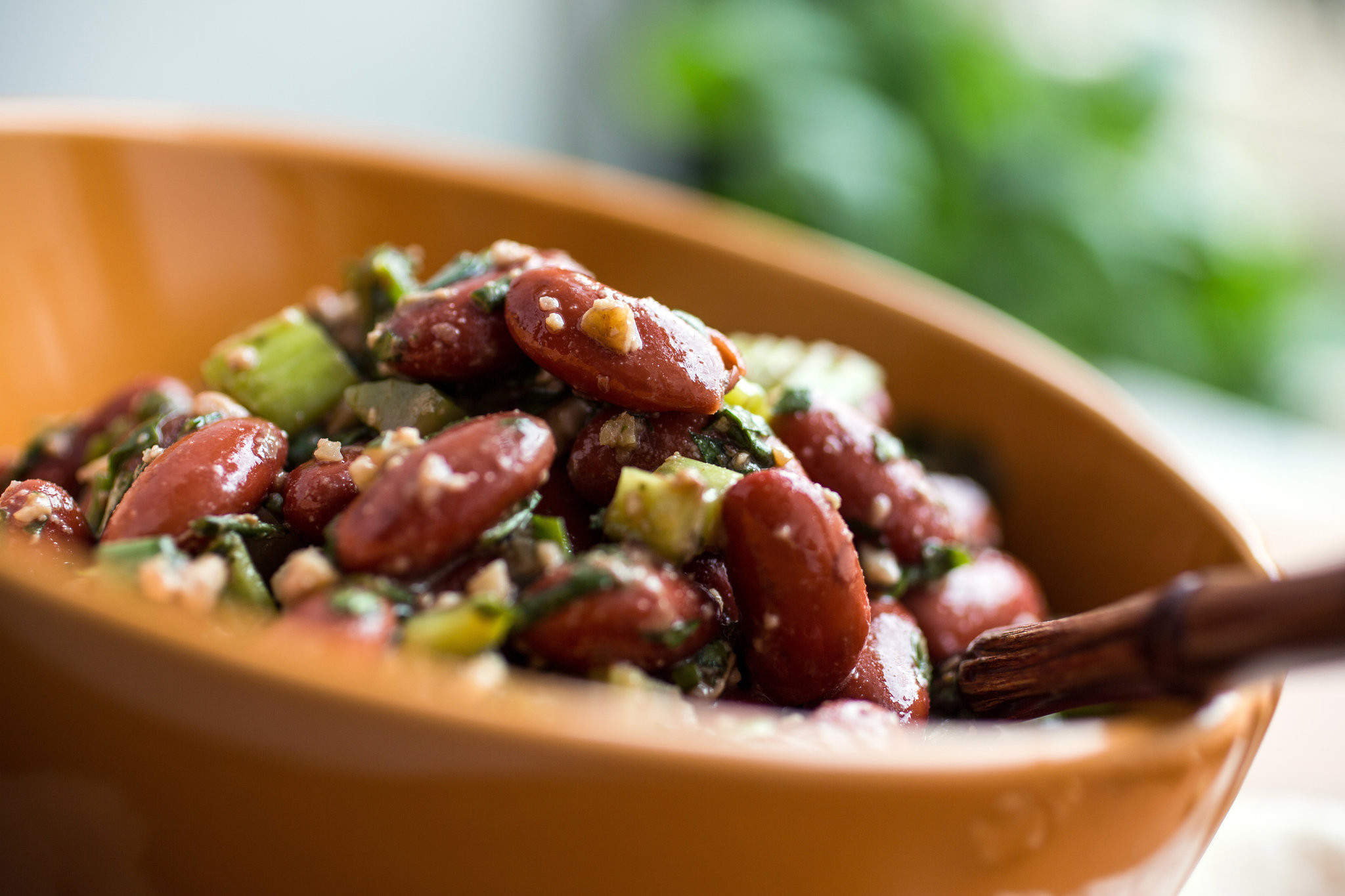 Healthy Kidney Bean Recipes  Red Bean Herb and Walnut Salad Recipe NYT Cooking