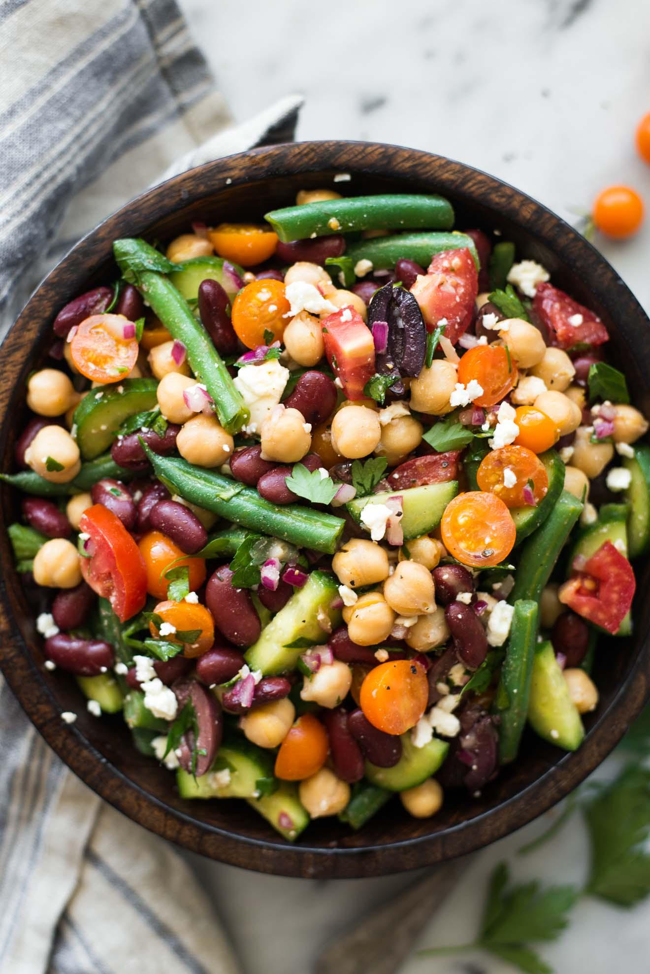 Healthy Kidney Bean Recipes  Mediterranean Three Bean Salad