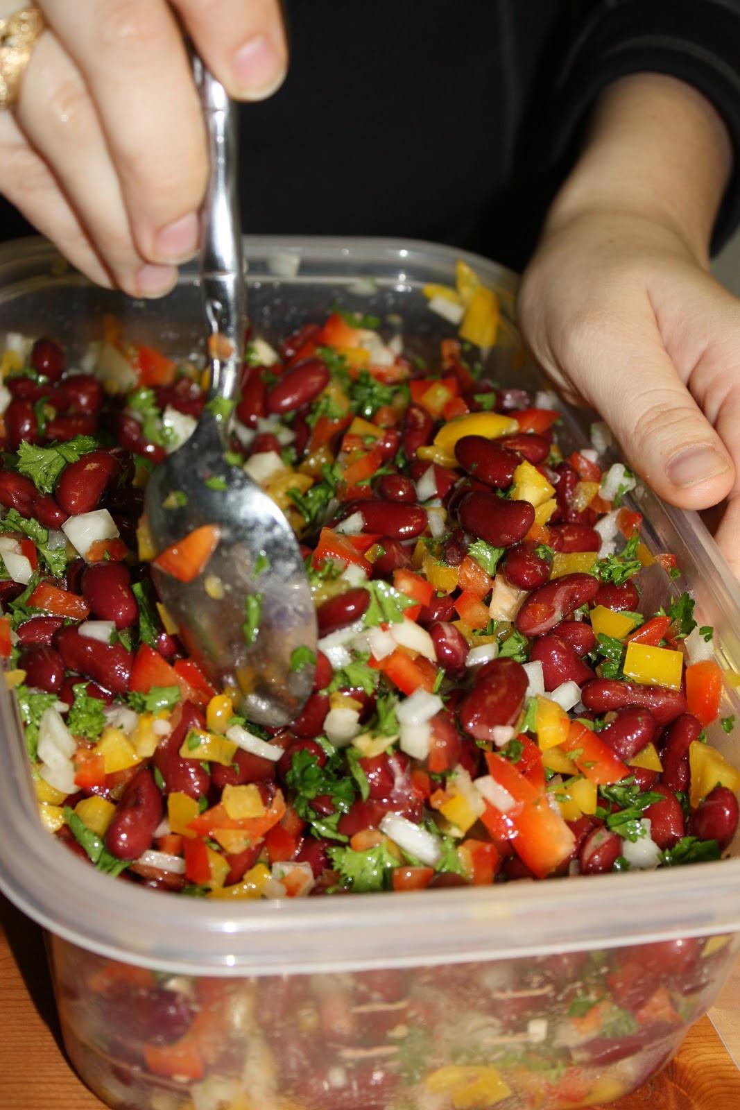 Healthy Kidney Bean Recipes  Delectably Healthy Mediterranean Inspired Kidney Bean Salad