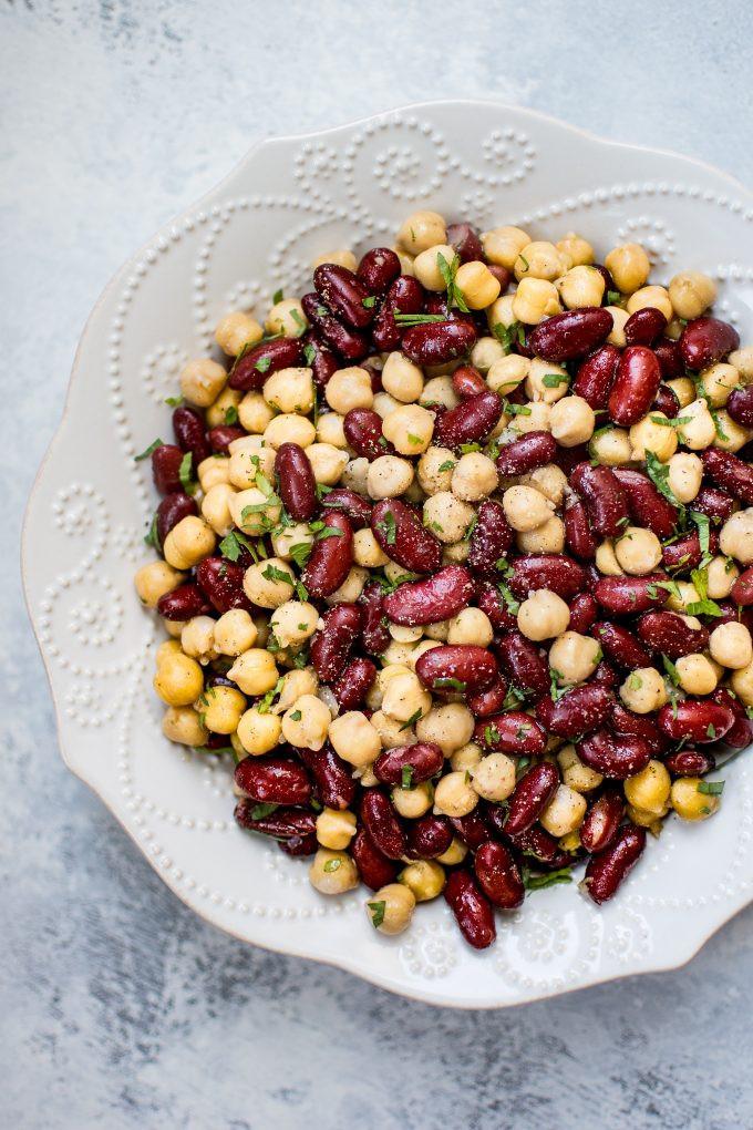 Healthy Kidney Bean Recipes  Kidney Bean and Chickpea Salad • Salt & Lavender