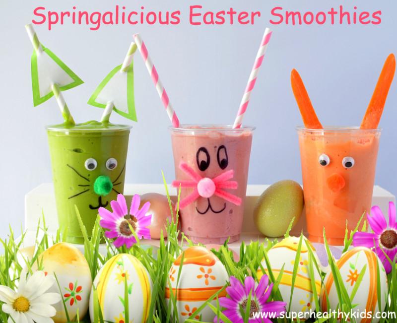 Healthy Kids Smoothies  Springalicious Easter Smoothie Recipe