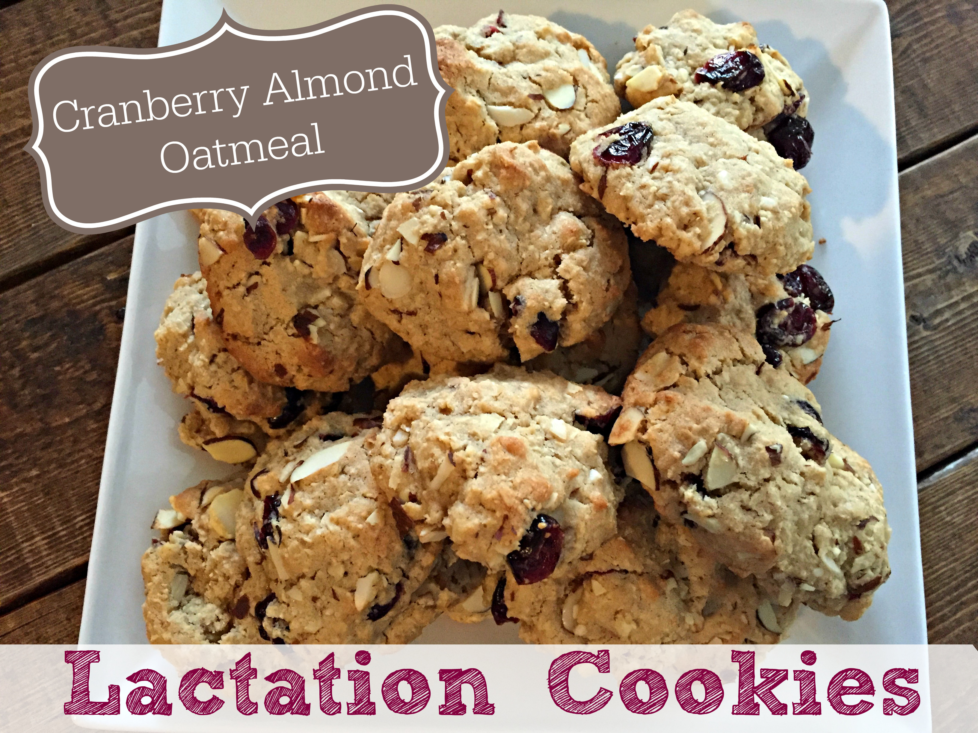 Healthy Lactation Cookies Recipe  Cranberry Almond Oatmeal Lactation Cookies