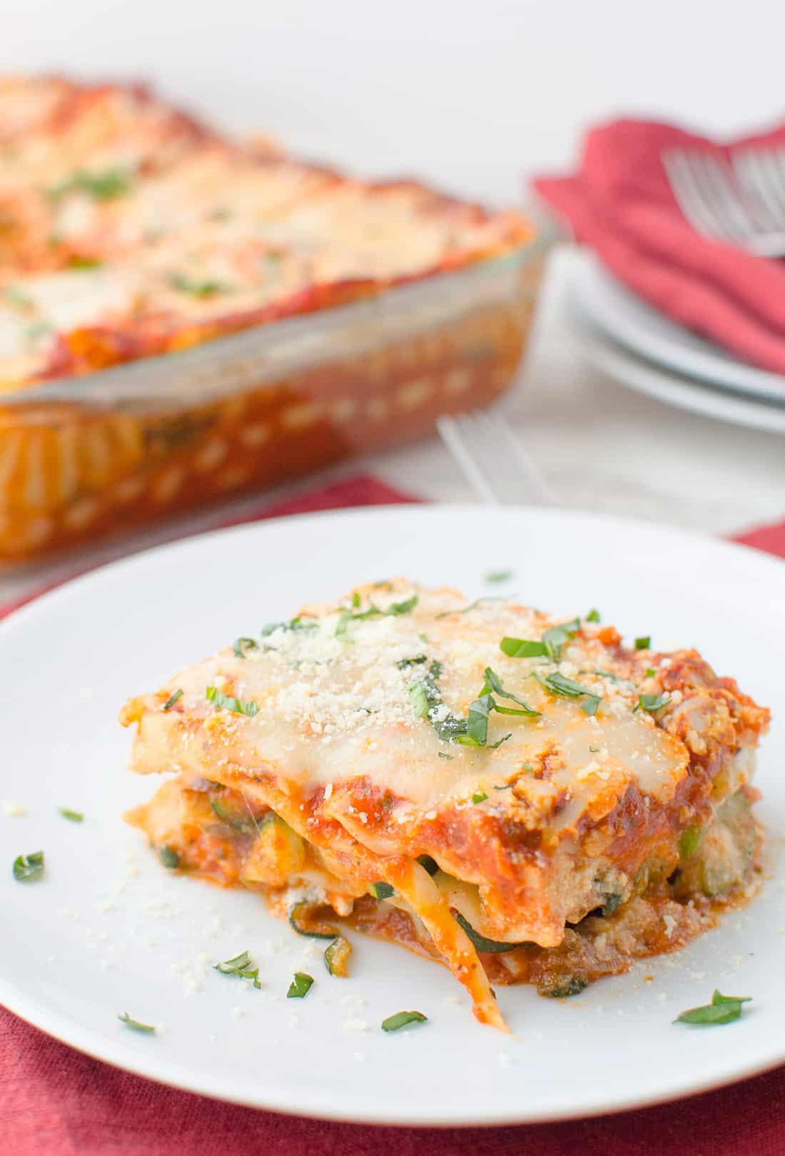 Healthy Lasagna Noodles  healthy ve able lasagna