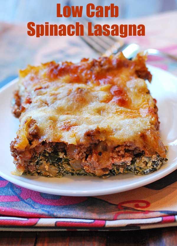 Healthy Lasagna Noodles  Low Carb Spinach Lasagna Recipe No Noodles