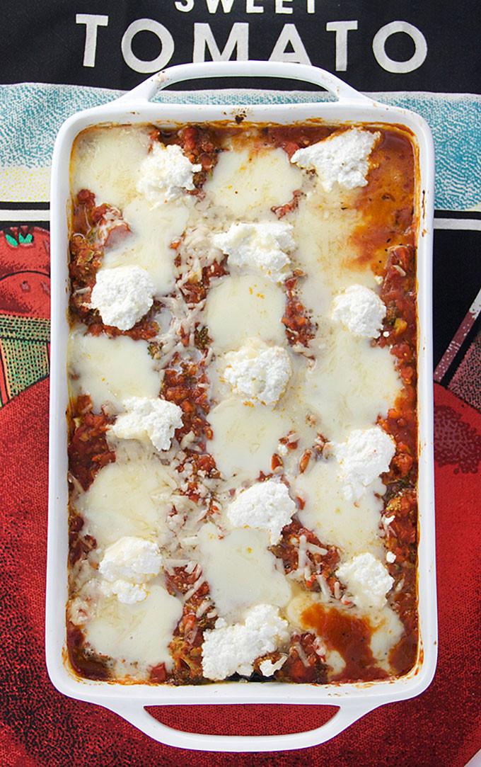 Healthy Lasagna Noodles  NO NOODLE EGGPLANT LASAGNA Panning The Globe