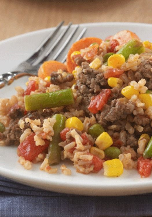 Healthy Lean Ground Beef Recipes  Beefy Rice Skillet Recipe