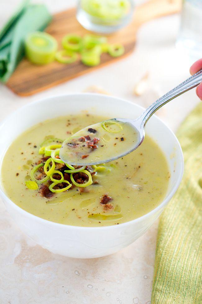 Healthy Leek And Potato Soup  Creamy Potato and Leek Soup