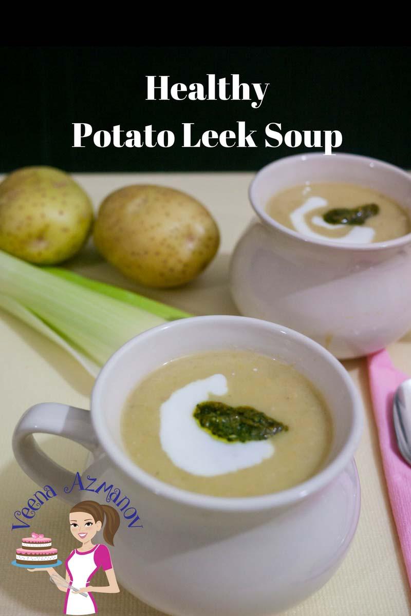 Healthy Leek And Potato Soup  Healthy Potato Leek Soup Recipe Veena Azmanov