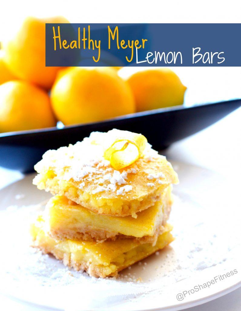 Healthy Lemon Dessert Recipes  Healthy Meyer Lemon Bars ProShapeFitness