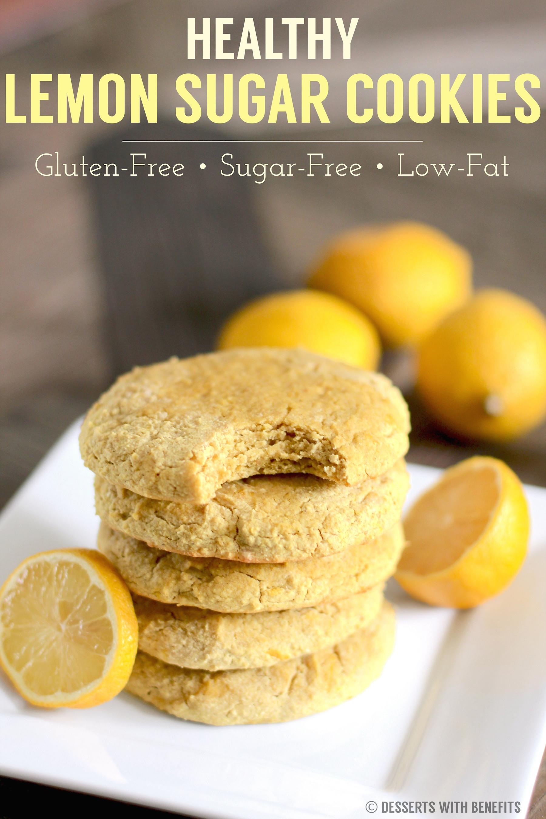 Healthy Lemon Dessert Recipes  Healthy Gluten Free Lemon Sugar Cookies Recipe