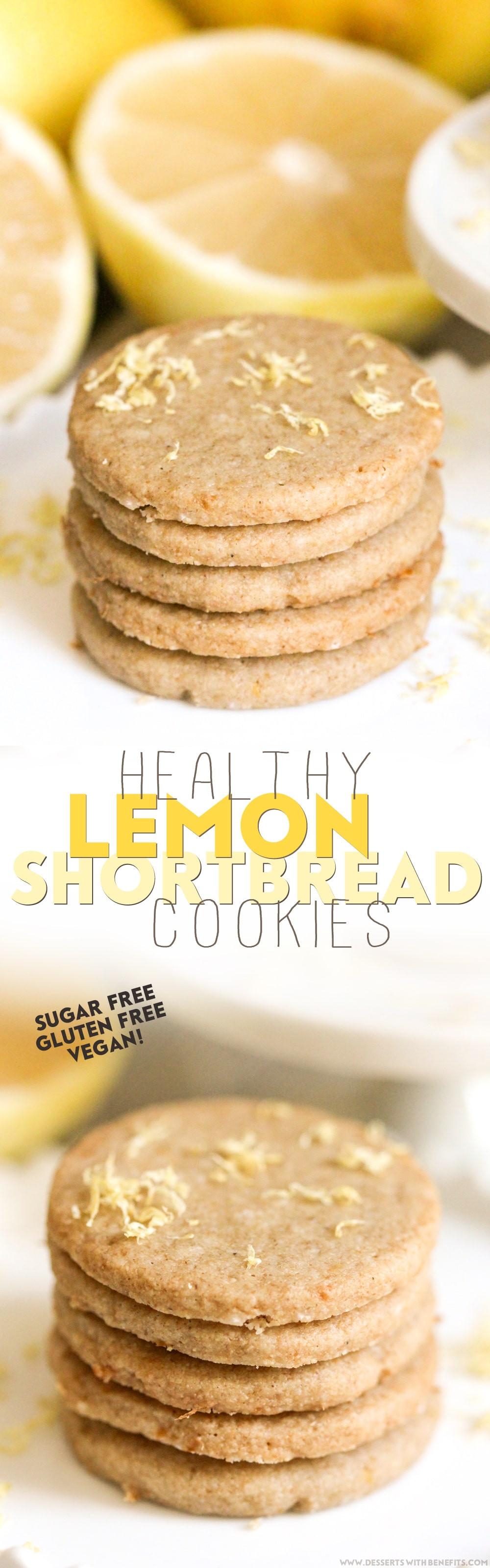 Healthy Lemon Dessert Recipes  Healthy Lemon Shortbread Cookies recipe sugar free