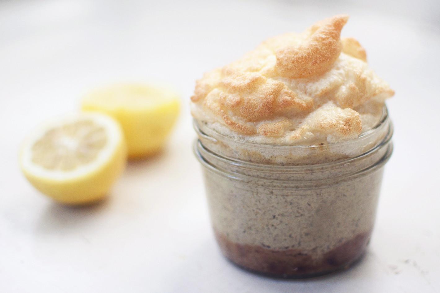 Healthy Lemon Meringue Pie  Lemon Meringue Pie in a jar gluten free and dairy free