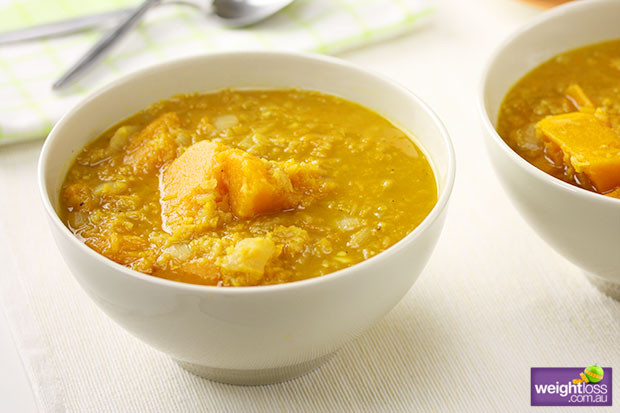 Healthy Lentil Recipes For Weight Loss  Pumpkin & Red Lentil Soup