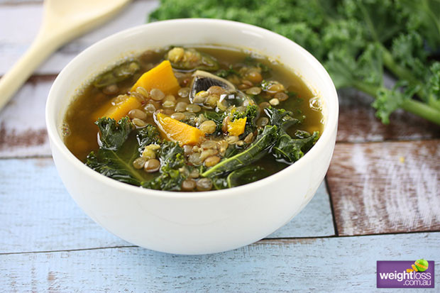 Healthy Lentil Recipes For Weight Loss  Spicy Kale & Lentil Soup
