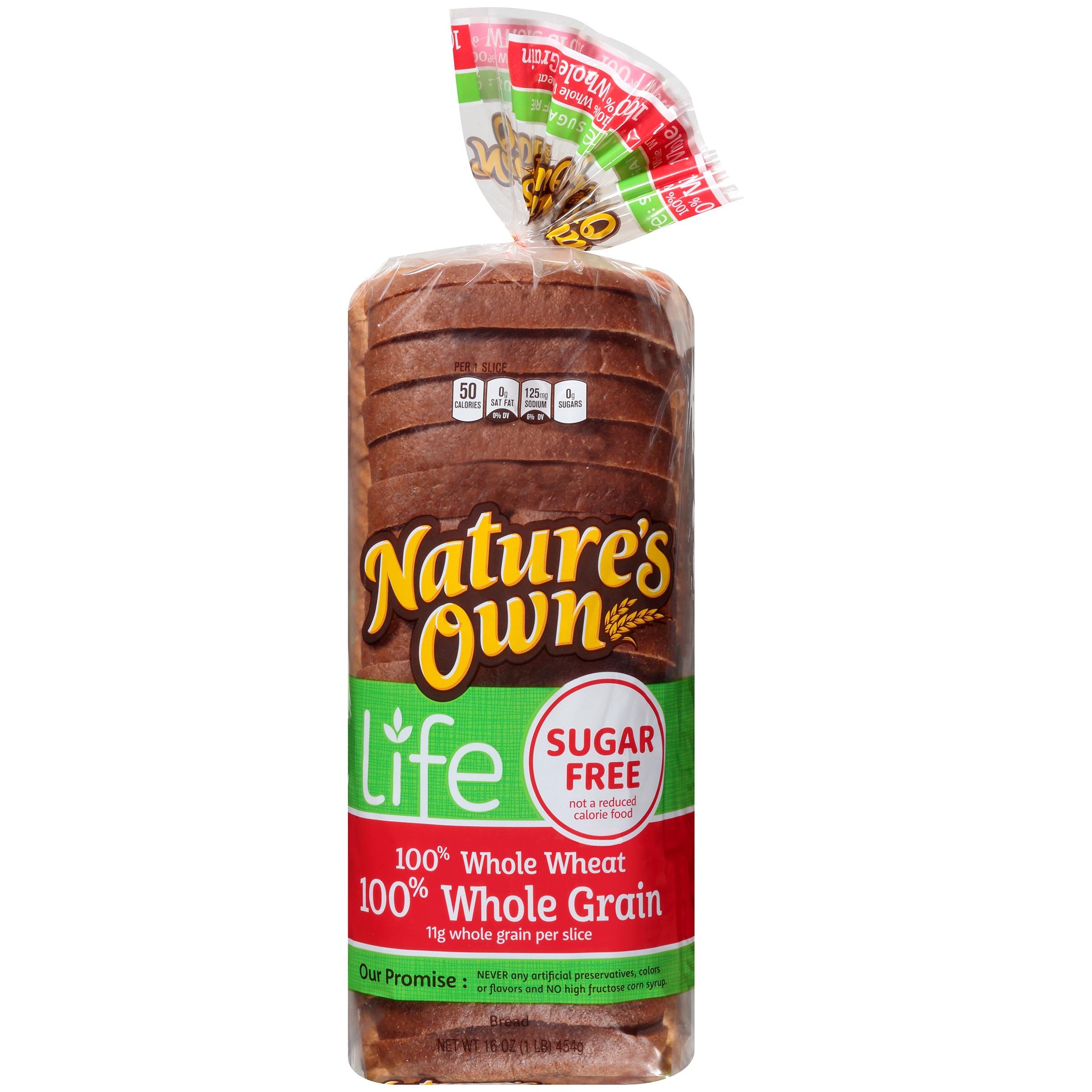 Healthy Life Bread Walmart  Nature s Own Life Sugar Free Whole Grain Bread 16 oz