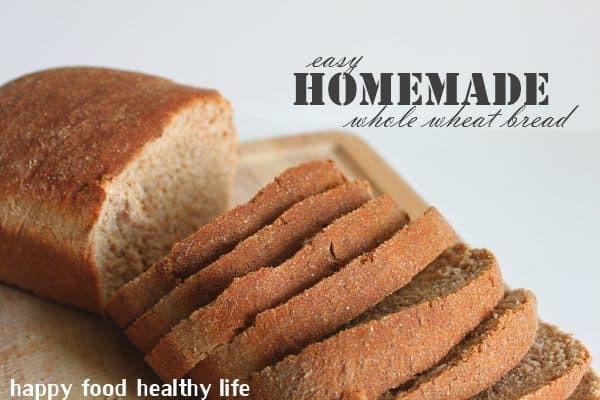 Healthy Life Whole Wheat Bread  Homemade Whole Wheat Bread Happy Food Healthy Life