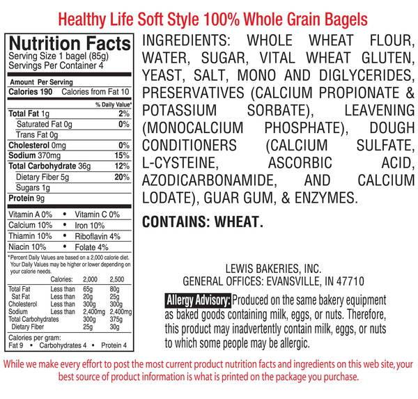 Healthy Life Whole Wheat Bread  Healthy Life Bread Whole Grain Bagels