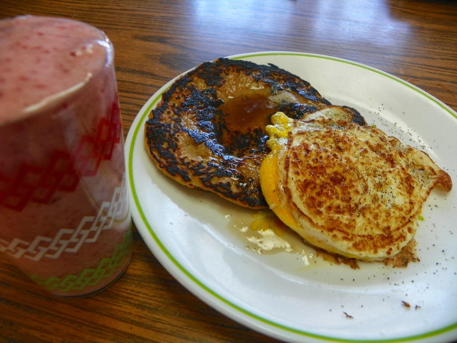 Healthy Light Breakfast  Dicky Bird s Nest Oatmeal Banana Pancake Light Healthy