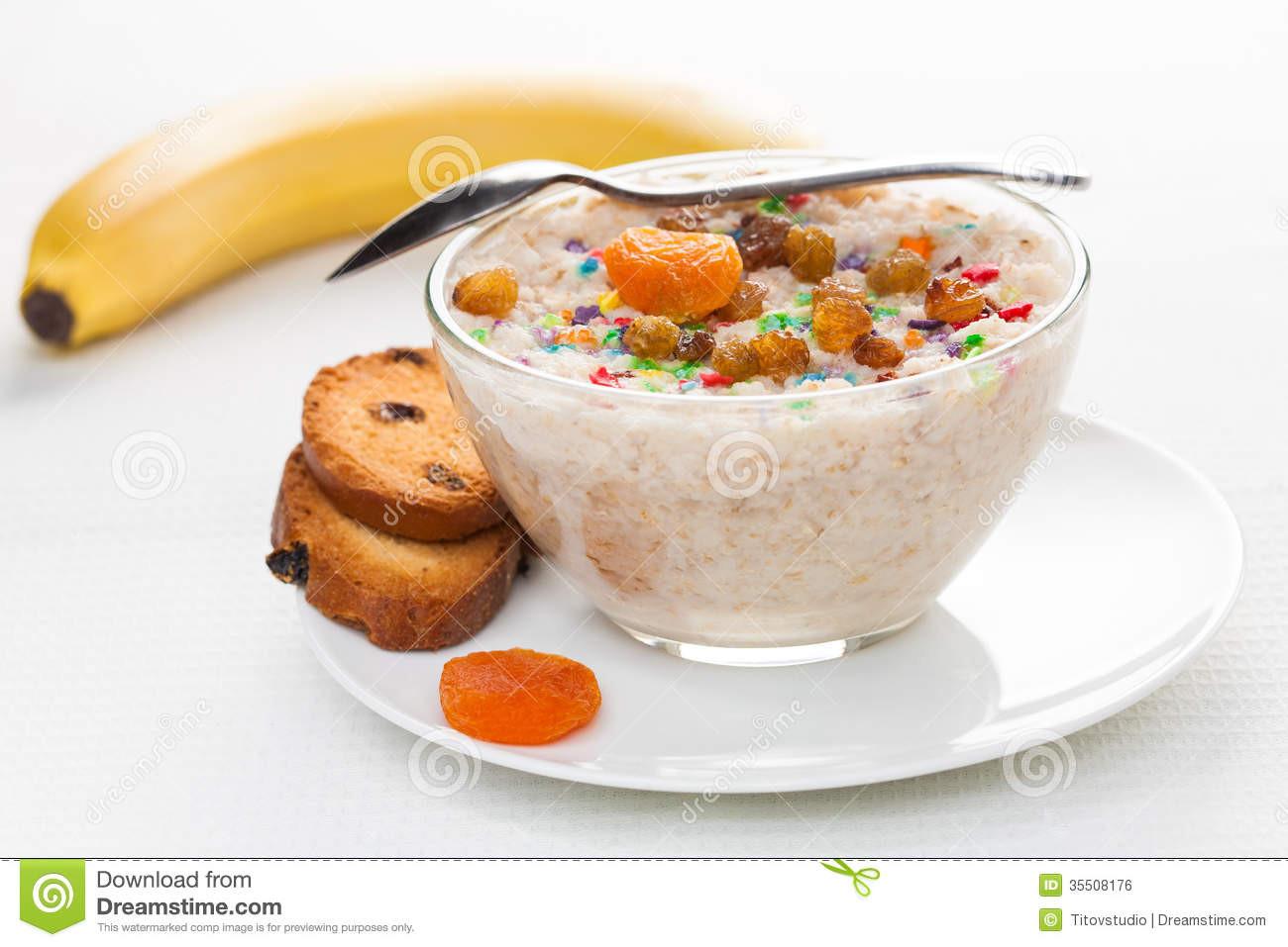 Healthy Light Breakfast  Healthy Breakfast A Light Background Royalty Free Stock