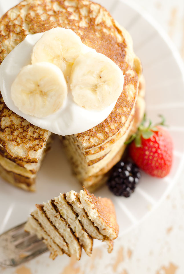 Healthy Light Breakfast  Light & Fluffy Banana Protein Pancakes Low Carb Breakfast