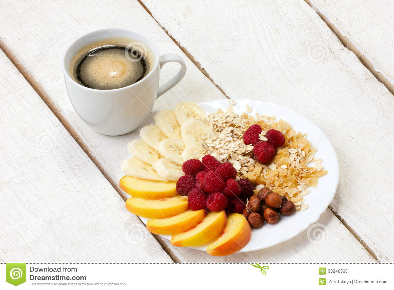 Healthy Light Breakfast  Light Breakfast With Coffee Stock Image Image