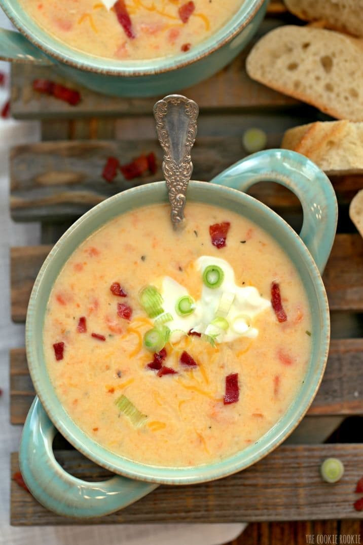 Healthy Loaded Baked Potato Soup  Crockpot Loaded Potato Soup Healthy Potato Soup