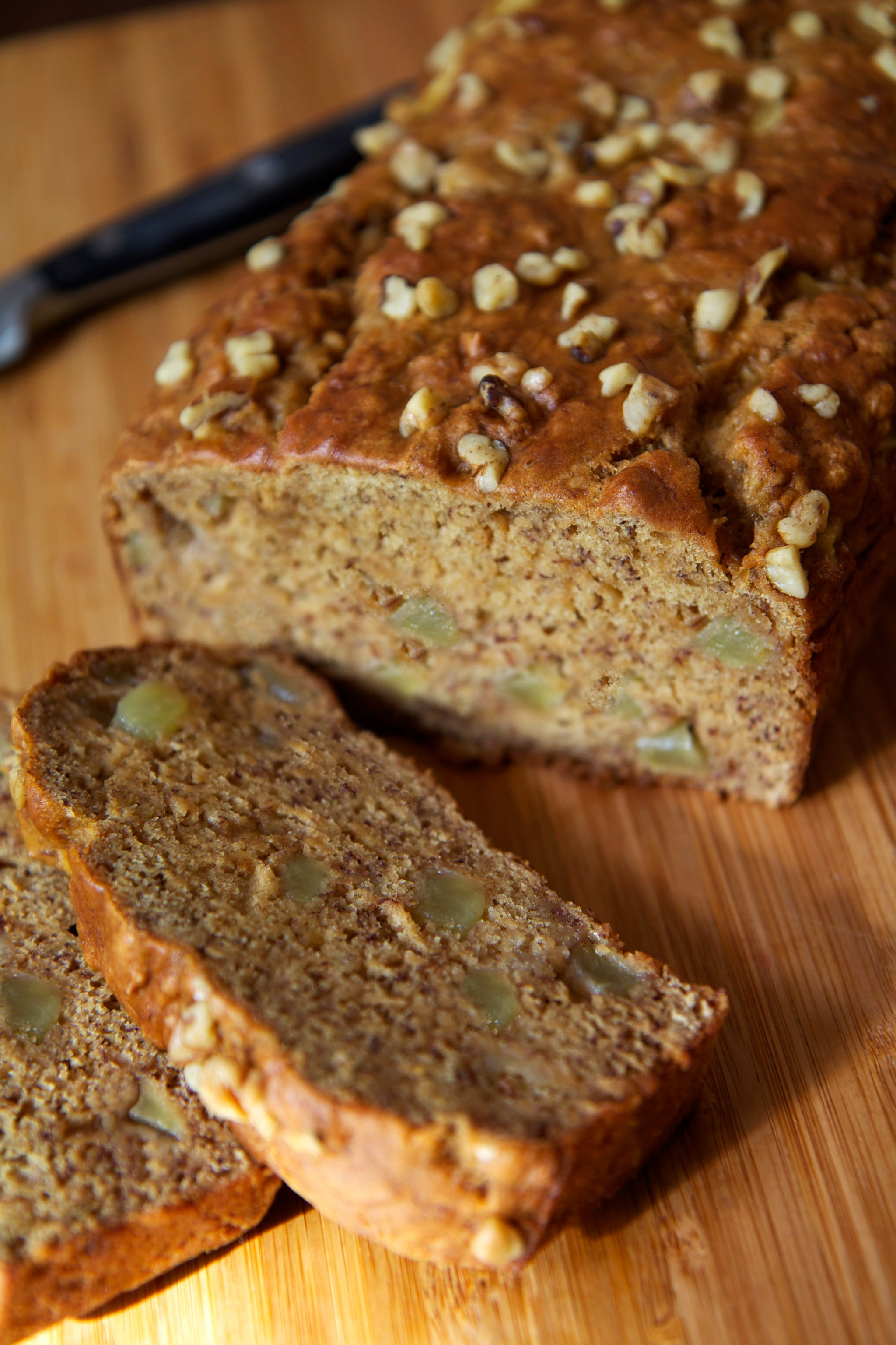 Healthy Low Calorie Bread  Recipe For Low Fat Vegan Banana Apple Chunk Bread
