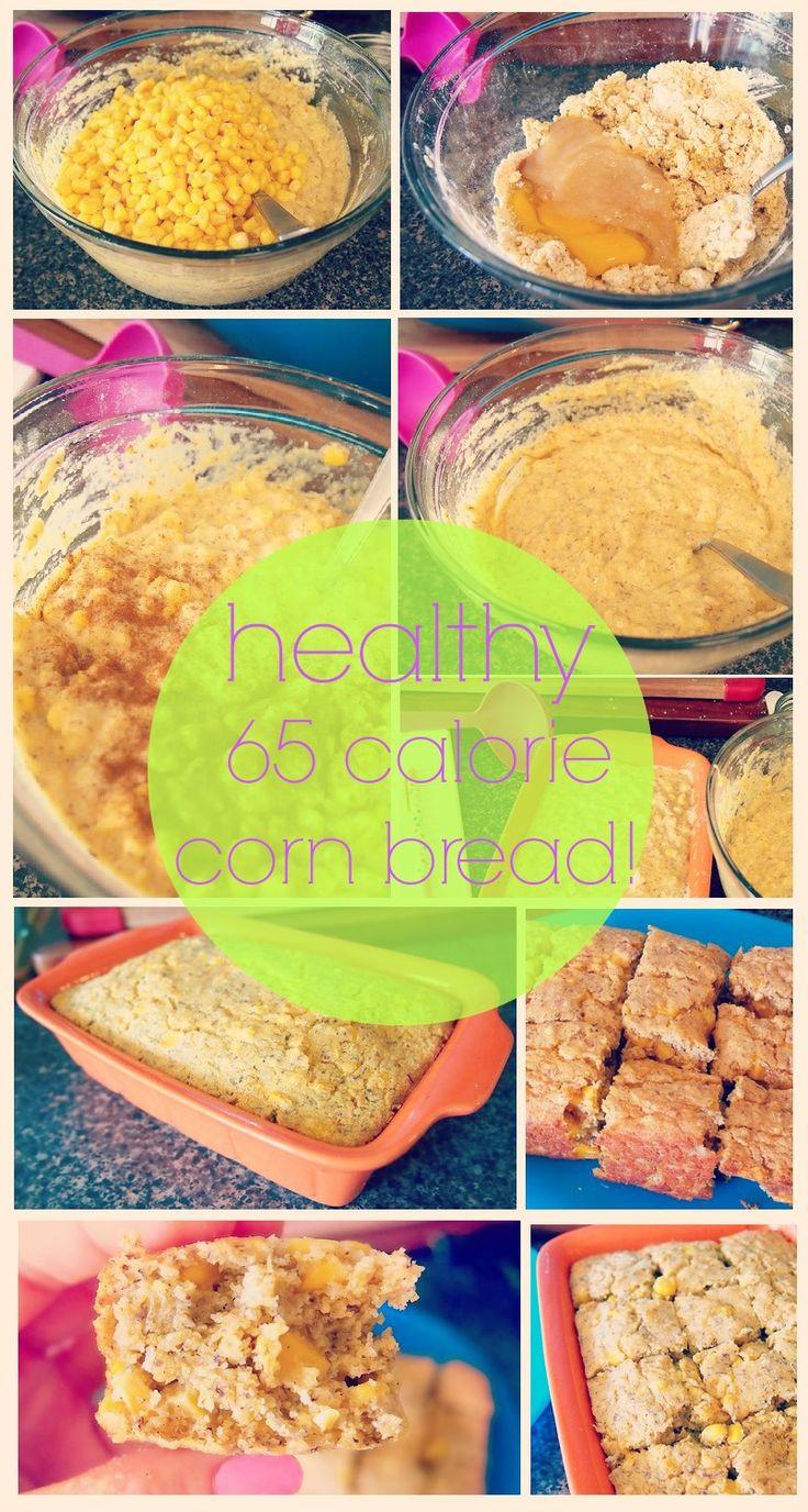 Healthy Low Calorie Bread  Healthy low calorie corn bread recipe via Taralynn