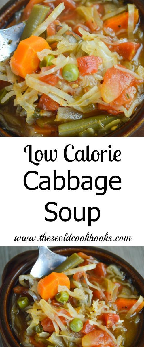 Healthy Low Calorie Soups  Healthy Low Calorie Cabbage Soup with Ve ables